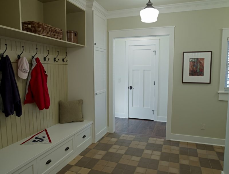 Mud Room with built in bench and cubby